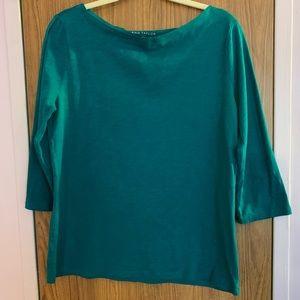 🌺Ann Taylor Teal Shirt size Large🌺